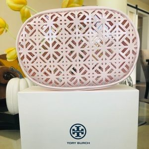 Tory Burch Laser cut cosmetic bag